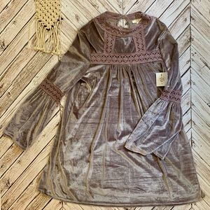 NEW shimmering lavender dress